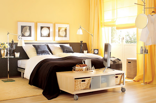 blau oder gelb f rs schlafzimmer oder doch gr n. Black Bedroom Furniture Sets. Home Design Ideas